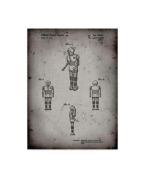 "Trademark Global Cole Borders 'Star Wars Medical Droid 2' Canvas Art - 19"" x 14"" x 2"""