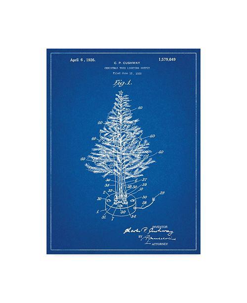 "Trademark Innovations Cole Borders 'Christmas Tree 2' Canvas Art - 19"" x 14"" x 2"""