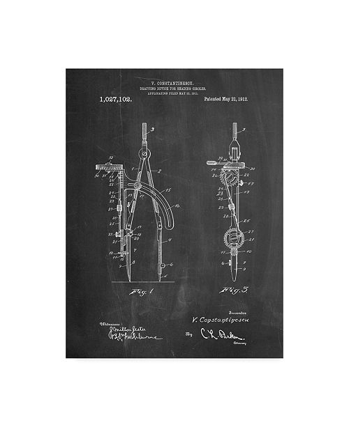 """Trademark Innovations Cole Borders 'Drafting Compass' Canvas Art - 32"""" x 24"""" x 2"""""""