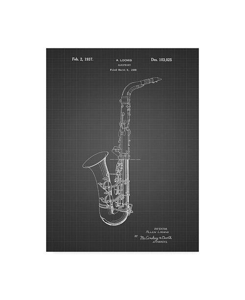 "Trademark Innovations Cole Borders 'Conn A Melody Saxophone' Canvas Art - 47"" x 35"" x 2"""