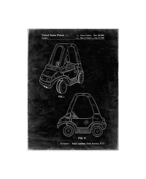 "Trademark Innovations Cole Borders 'Fisher Price Toy Car' Canvas Art - 24"" x 18"" x 2"""