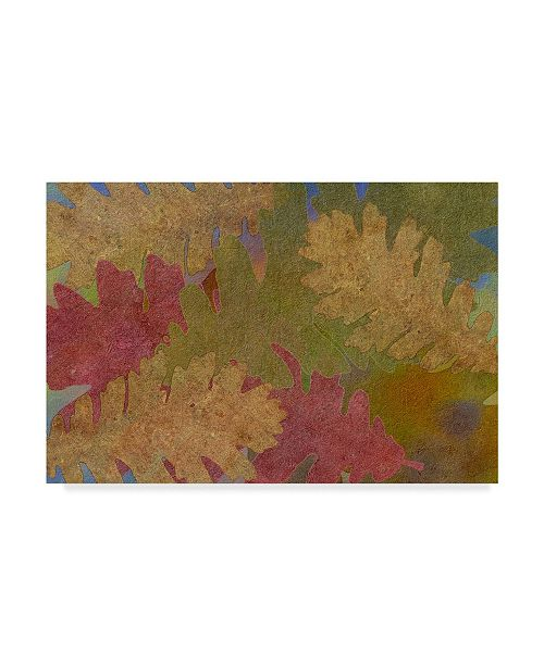 "Trademark Global Cora Niele 'Fallen Leaves Red Golden' Canvas Art - 32"" x 22"" x 2"""