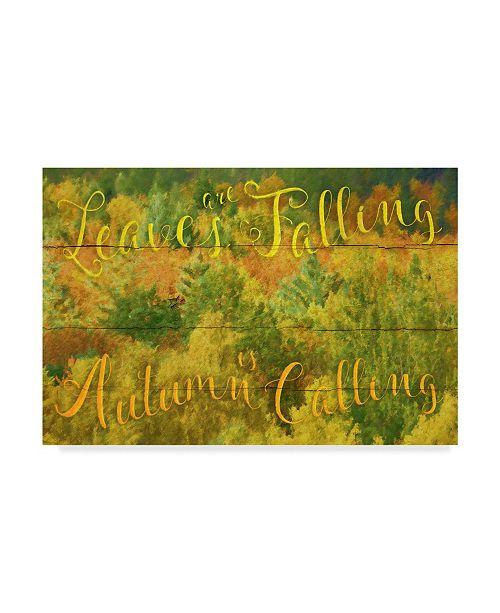 "Trademark Global Cora Niele 'Leaves Are Falling' Canvas Art - 24"" x 16"" x 2"""