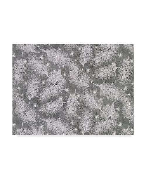 """Trademark Global Color Bakery 'Under The Pines Silver' Canvas Art - 19"""" x 14"""" x 2"""""""