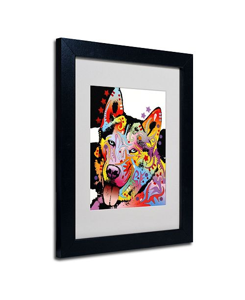 "Trademark Global Dean Russo 'Siberian Husky' Matted Framed Art - 14"" x 11"" x 0.5"""