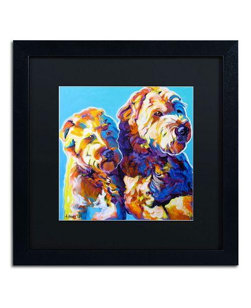 "Trademark Global DawgArt 'Max and Maggie' Matted Framed Art - 16"" x 16"" x 0.5"""