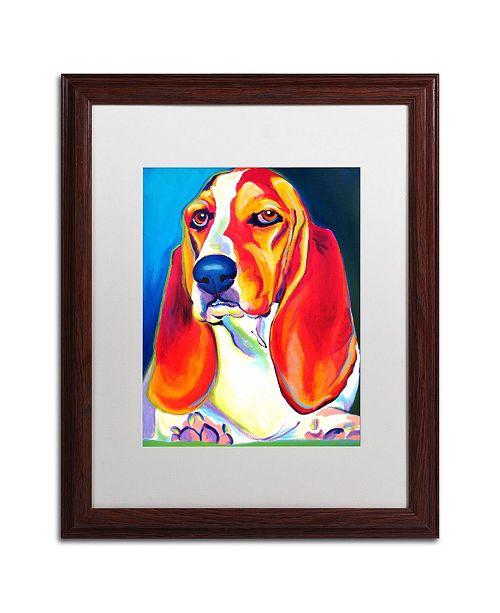"Trademark Global DawgArt 'Maple' Matted Framed Art - 16"" x 20"" x 0.5"""