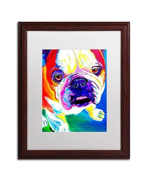 "Trademark Global DawgArt 'Stanley' Matted Framed Art - 16"" x 20"" x 0.5"""