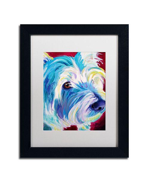 """Trademark Global DawgArt 'Westie' Matted Framed Art - 14"""" x 11"""" x 0.5"""""""