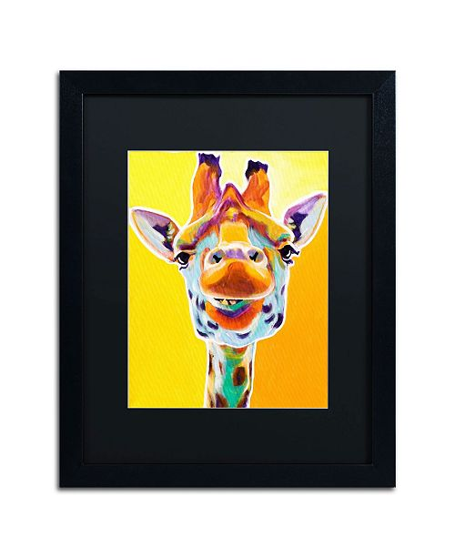 """Trademark Global DawgArt 'Giraffe No. 3' Matted Framed Art - 20"""" x 16"""" x 0.5"""""""