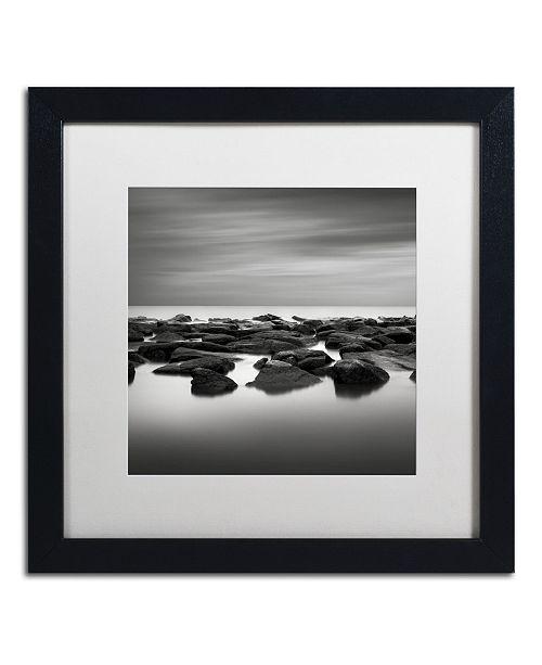 "Trademark Global Dave MacVicar 'High Tide' Matted Framed Art - 16"" x 16"" x 0.5"""