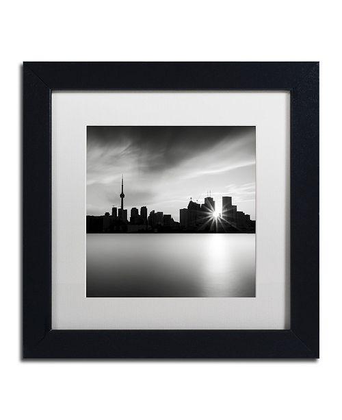 "Trademark Global Dave MacVicar 'Silver City' Matted Framed Art - 11"" x 11"" x 0.5"""