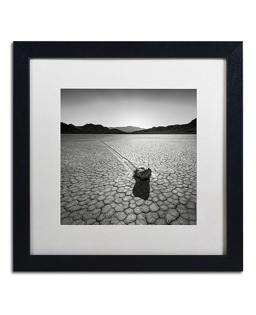"Trademark Global Dave MacVicar 'Sailing Stone' Matted Framed Art - 16"" x 16"" x 0.5"""