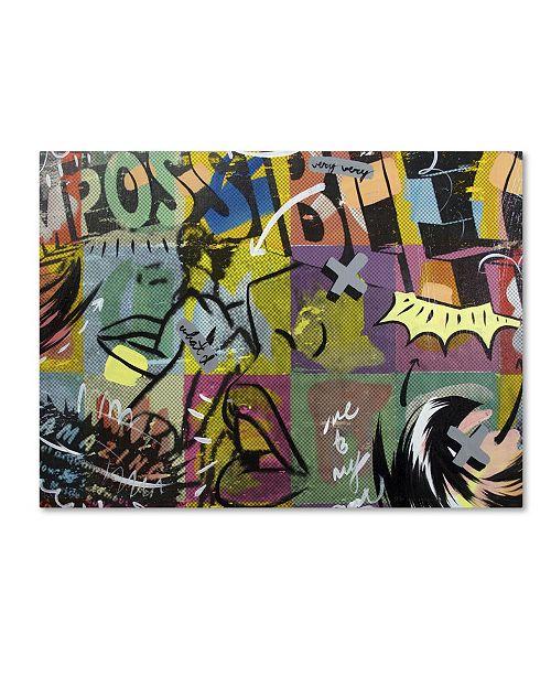 "Trademark Global Dan Monteavaro 'IMPOSSIBLE' Canvas Art - 24"" x 18"" x 2"""
