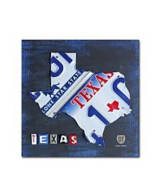"Design Turnpike 'Texas License Plate Map' Canvas Art - 24"" x 24"" x 2"""