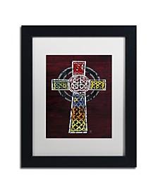 """Design Turnpike 'Celtic Cross' Matted Framed Art - 11"""" x 14"""" x 0.5"""""""