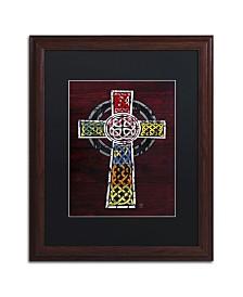 """Design Turnpike 'Celtic Cross' Matted Framed Art - 20"""" x 16"""" x 0.5"""""""