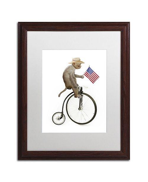 """Trademark Global J Hovenstine Studios 'Monkeys Riding Bikes #3' Matted Framed Art - 20"""" x 16"""" x 0.5"""""""