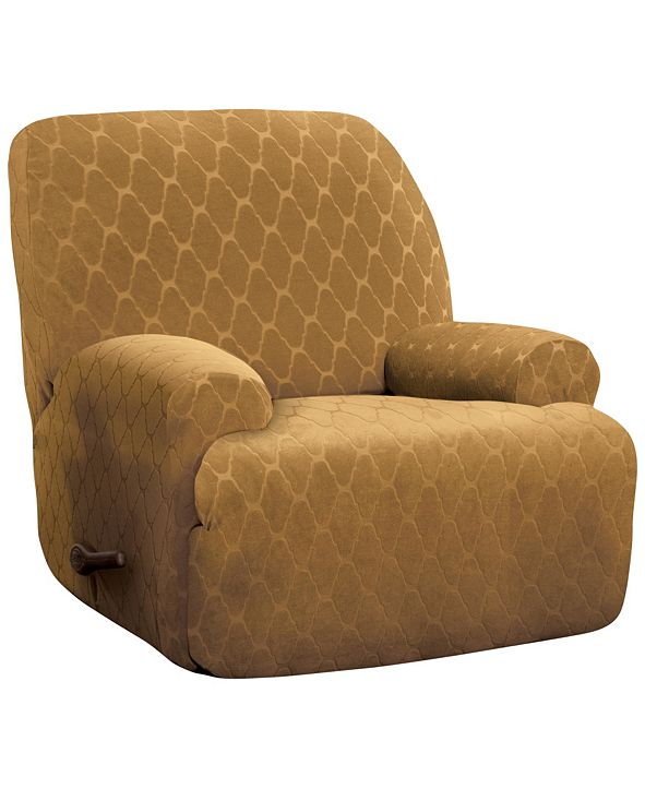 P/Kaufmann Home Stretch Sensations Stretch Ogee Slipcover for a Jumbo Recliner.