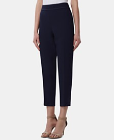 Tahari ASL Side-Zip Studded Ankle Pants