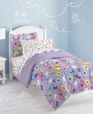 Dream Factory Sweet Butterfly Twin Comforter Set Bedding
