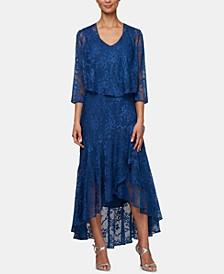 Allover Glitter Sleeveless Dress & Jacket