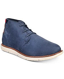 Men's Navi Crosshatch Denim Boots
