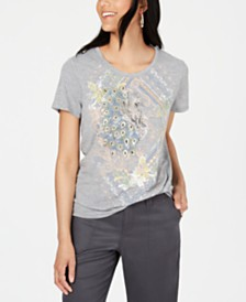 Style & Co Peacock Graphic T-Shirt, Created for Macy's