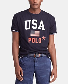 Polo Ralph Lauren Men's Big & Tall Classic-Fit Jersey Graphic Americana T-Shirt
