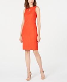 Elie Tahari Doreen Embellished Sheath Dress