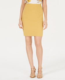 Bar III Textured Crepe Skirt, Created for Macy's