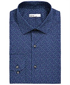 Men's Slim-Fit Performance Stretch Scattered Dot Dress Shirt, Created for Macy's