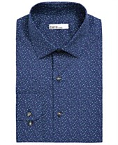 0995aa014be0 Bar III Men's Classic/Regular-Fit Stretch Scattered Dot Dress Shirt,  Created for