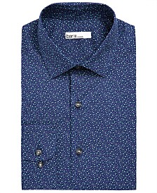 Bar III Men's Classic/Regular-Fit Stretch Scattered Dot Dress Shirt, Created for Macy's