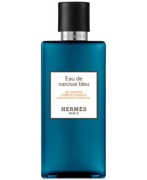 HERMES Eau de Narcisse Bleu Hair & Body Shower Gel, 6.7-oz.