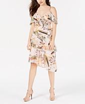 964070643b78 GUESS Printed Cold-Shoulder Dress