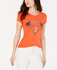 GUESS Glitter Logo Crewneck T-Shirt
