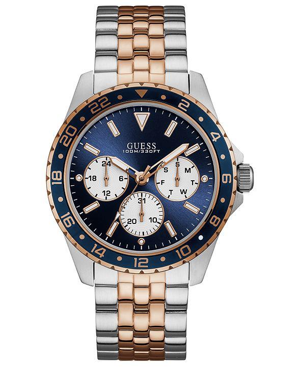 GUESS Men's Odyssey Two-Tone Stainless Steel Bracelet Watch 44mm