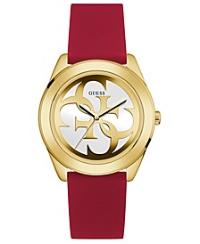 Women's Red Silicone Strap Watch 40mm