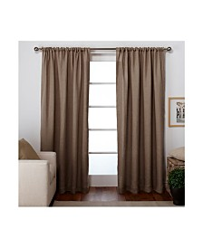 Exclusive Home Burlap Rod Pocket Curtain Panel Pair
