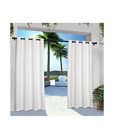 Exclusive Home Indoor Outdoor Solid Cabana Grommet Top Curtain Panel Pair