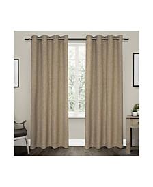 Exclusive Home Vesta Textured Woven Blackout Grommet Top Curtain Panel Pair