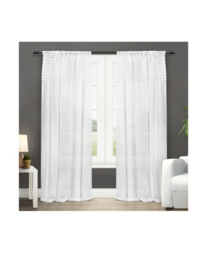 Exclusive Home Barcelona Sheer Rod Pocket Curtain Panel Pair