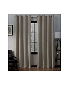 Exclusive Home Loha Linen Grommet Top Curtain Panel Pair