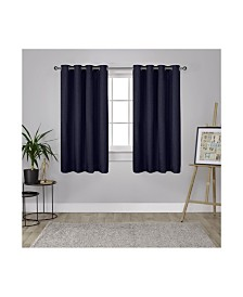 Exclusive Home London Textured Woven Blackout Grommet Top Curtain Panel Pair