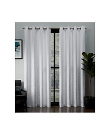 Exclusive Home Kilberry Woven Blackout Grommet Top Curtain Panel Pair