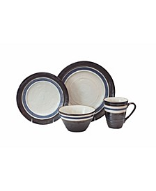 Rustic Stripe 16 Piece Dinnerware Set