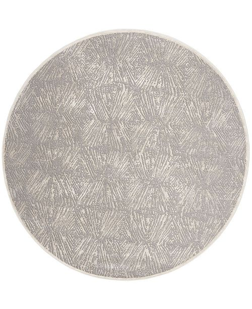 "Safavieh Meadow Ivory and Gray 6'7"" x 6'7"" Round Area Rug"
