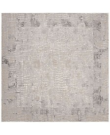 """Meadow Taupe and Gray 6'7"""" x 6'7"""" Square Area Rug"""