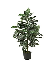 Nearly Natural 3' Zebra Silk Plant